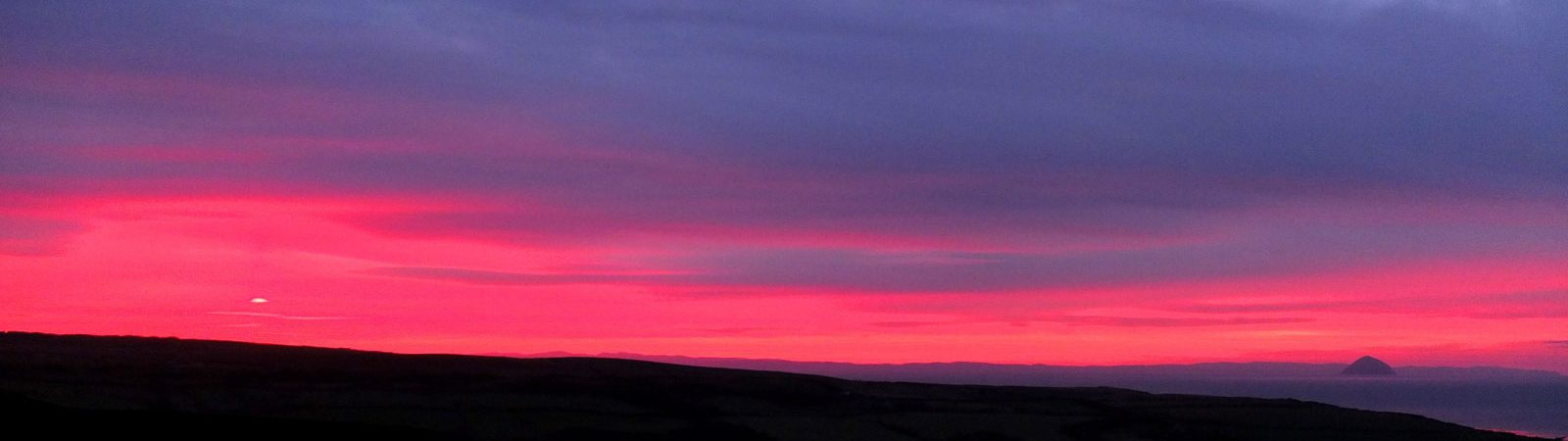 Arran view of the red sky